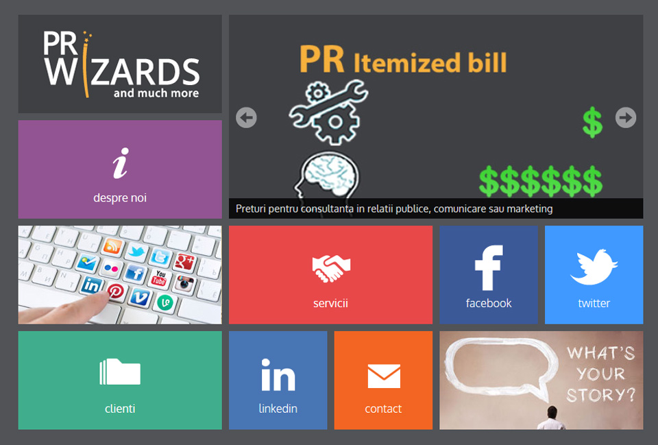 home page PRwizards