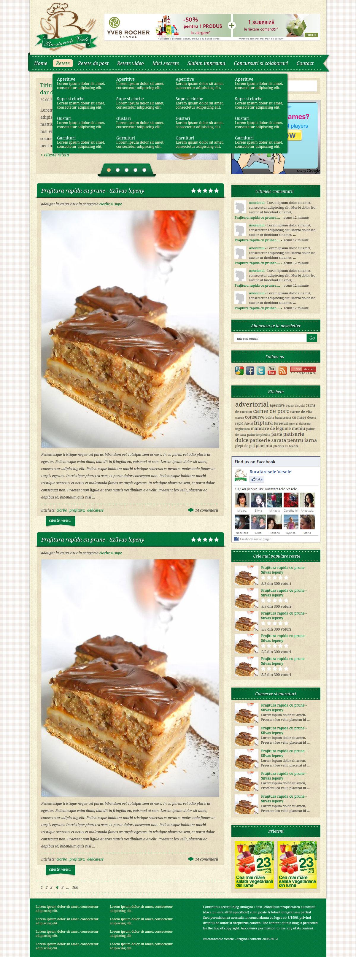 web design bucataresele vesele